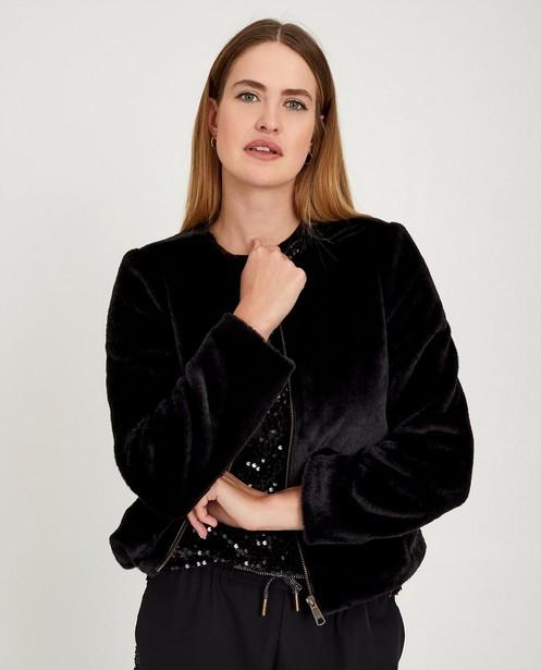 Blazers - Zwarte faux fur jas Youh!