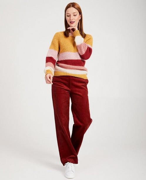 Pull rayé Karen Damen - tricot à grosses mailles - Karen Damen