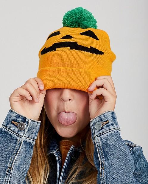 Oranje pompoen-muts - Halloween - JBC