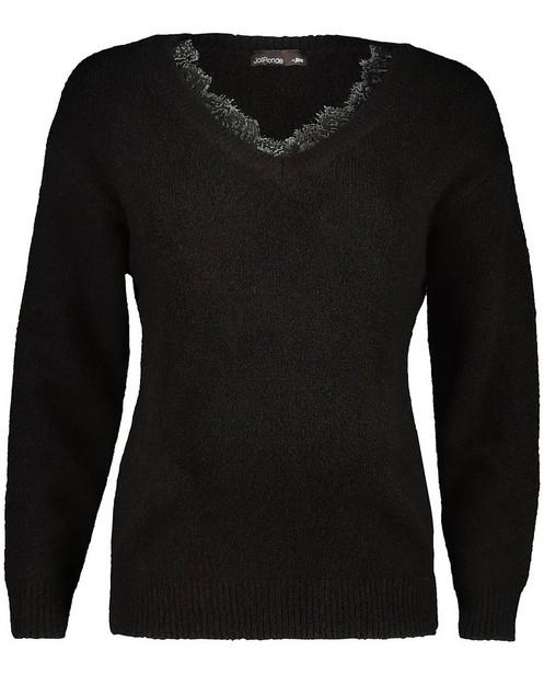 Zwarte trui met kant JoliRonde - zwangerschap - Joli Ronde