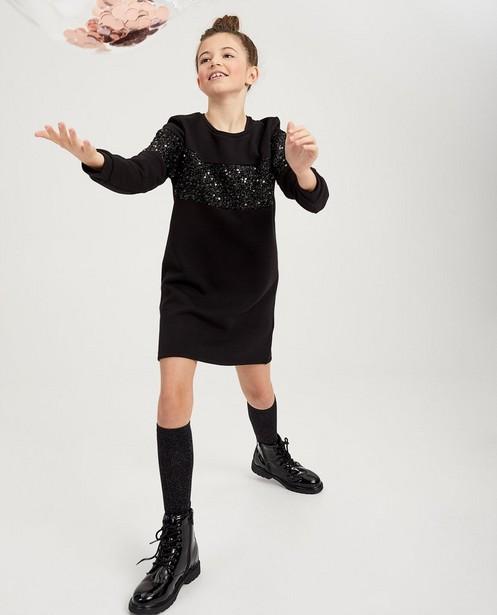 Robe noire à paillettes - robe molletonnée - fish