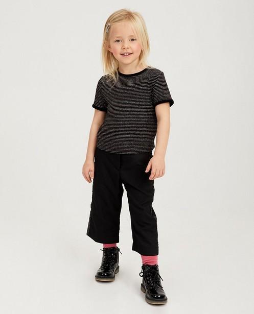 Zwart shirt met metaaldraad - met strepen - Milla Star