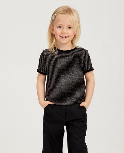 Zwart shirt met metaaldraad
