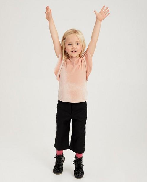 T-shirt rose en velours - manches à volants - Milla Star