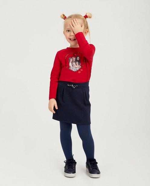 Rood shirt met print K3 - met pailletten - K3