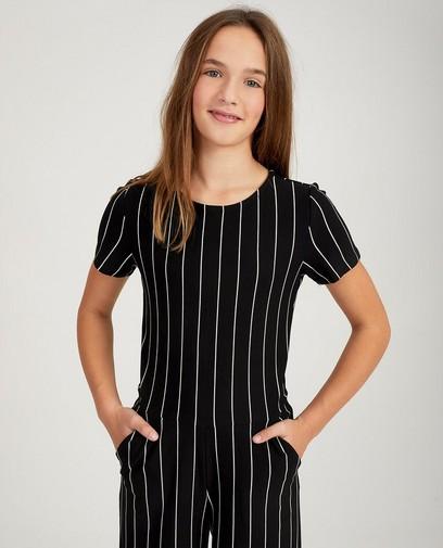 Zwarte jumpsuit met strepen