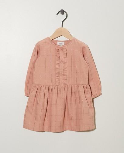 Roze jurkje met metaaldraad