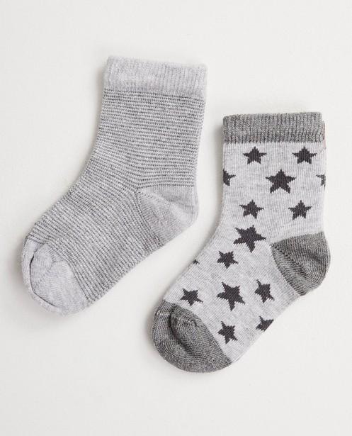 2 paires de chaussettes pour bébés - collection de fête, étoiles - JBC