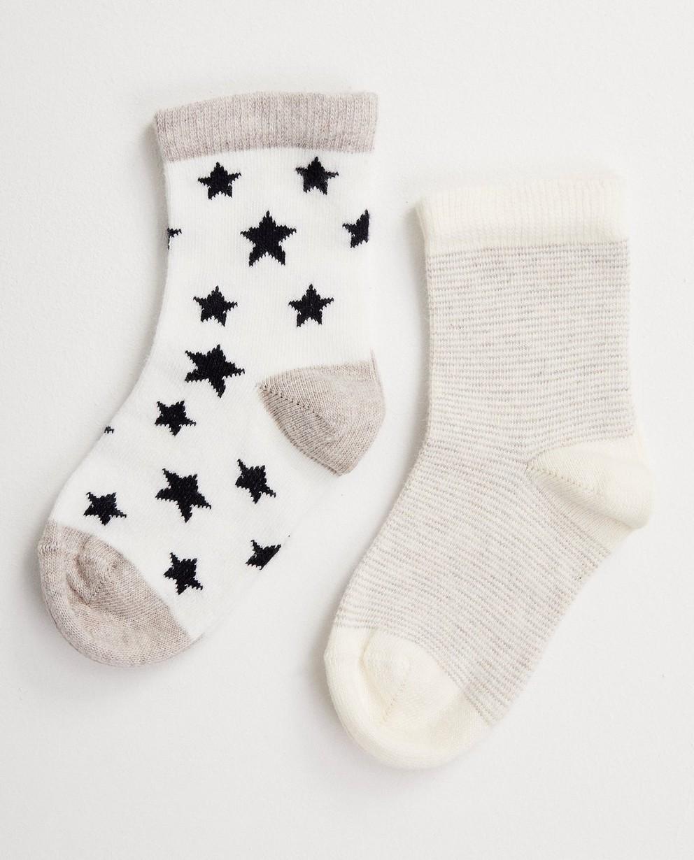 2 paires de chaussettes, étoiles - collection de fête - JBC