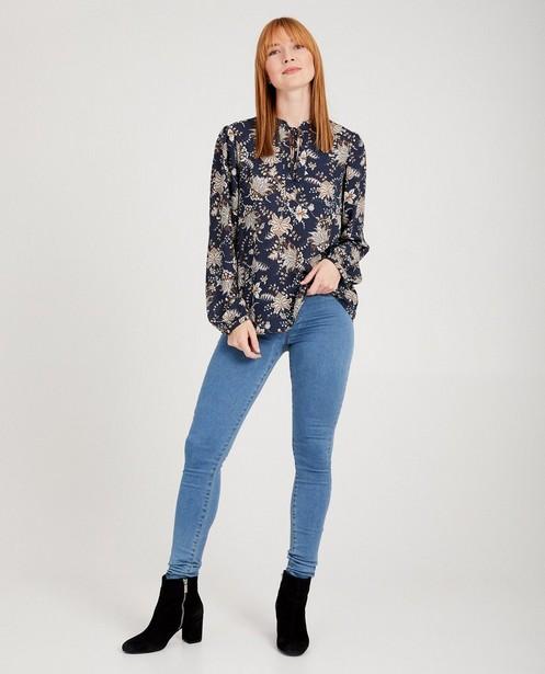Blauwe blouse met print Youh! - allover - Youh!