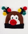 Rudolf-muts - met pompons - JBC