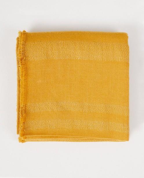 Gele sjaal met rafels Pieces - en strepen - Pieces