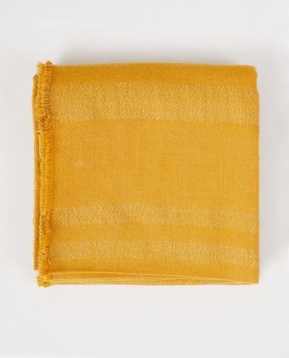 Gele sjaal met rafels Pieces