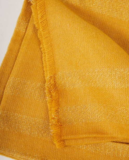 Breigoed - Gele sjaal met rafels Pieces