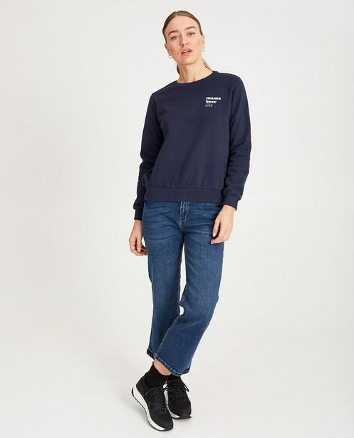 Blauwe sweater met print- My First - My first - zwangerschap - JBC