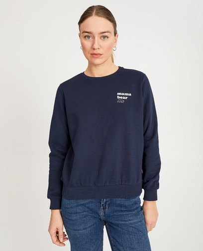 Blauwe sweater met print- My First