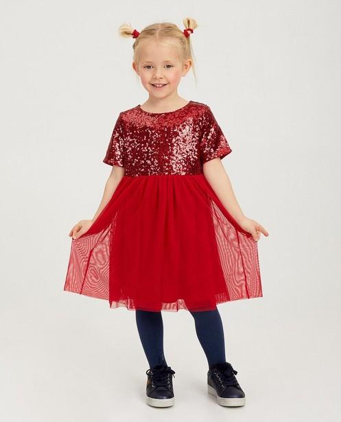 Rotes Kleid mit Pailletten K3 - und Tüll - K3