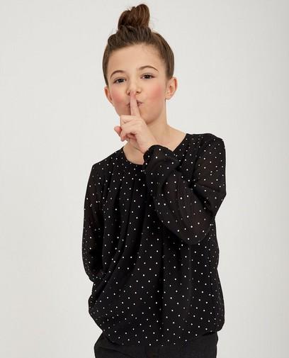 Zwarte blouse met stippen