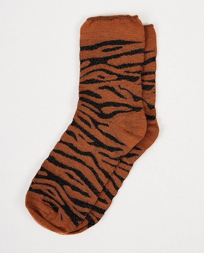 Kousen met tijgerprint Pieces