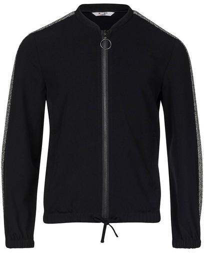 Schwarze Jacke mit Metallfaden