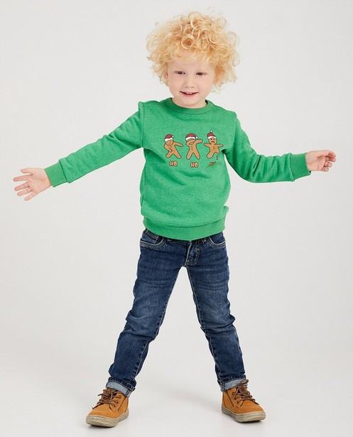 Sweat vert «ho ho ho» 2-7 ans - avec de la musique - JBC