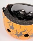 Gadgets - Casque orange, imprimé de skaters