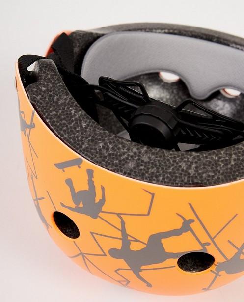 Gadgets - ORM - Oranje helm met skaterprint