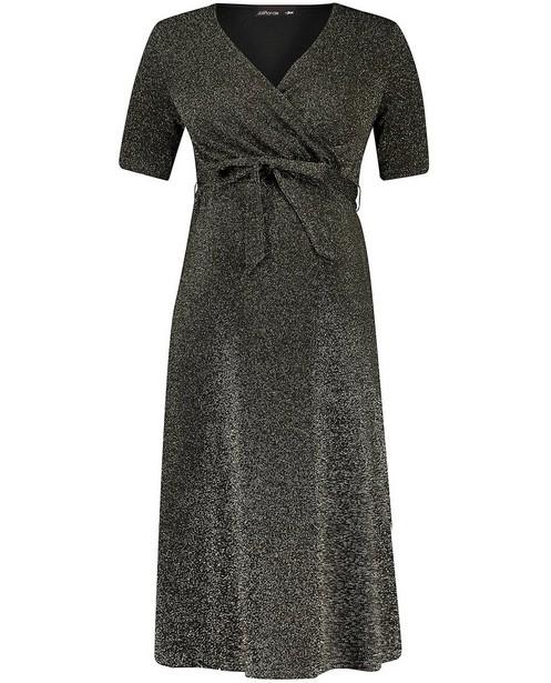 Zwarte jurk JoliRonde - met metaaldraad - Joli Ronde