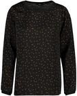 Chemises - Zwarte blouse met vierkantjes