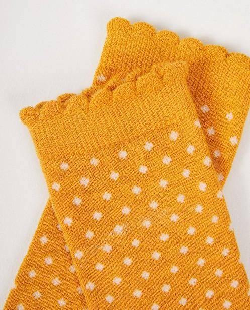 Chaussettes - geel oker -