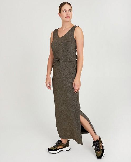 Maxi-jurk met metaaldraad Sora - in zwart - Sora