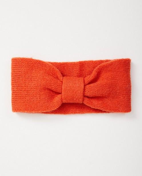 Oranje haarband #Like Me - van fijne brei - Like Me