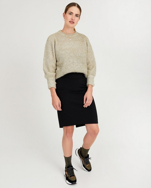 Zwarte rok met strepen Sora - kokerrok - Sora