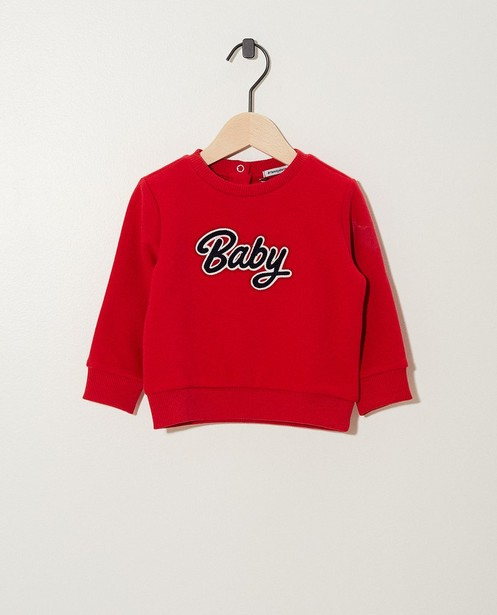 Pull «Baby» rouge - broderie - JBC
