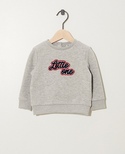 Pull gris clair « Little one » - broderie - JBC