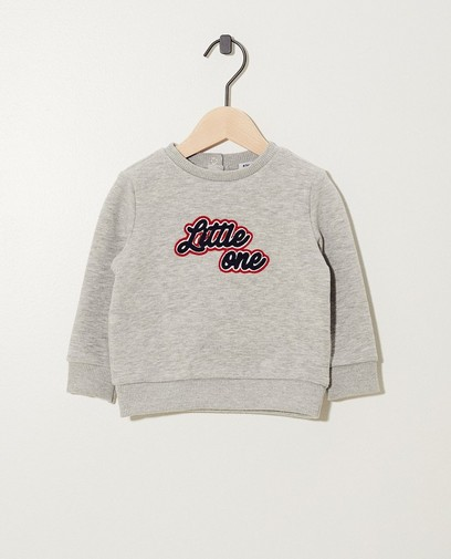 Pull gris clair « Little one »