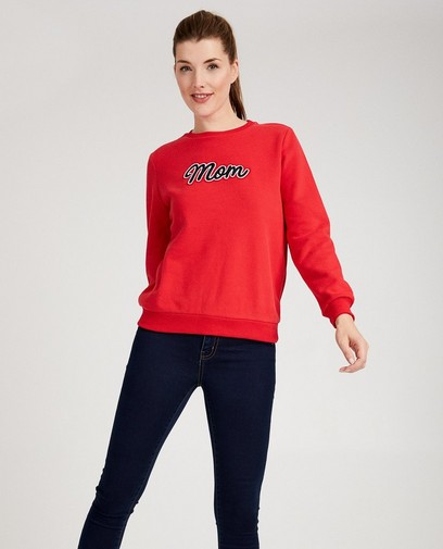Pull rouge «Mom»