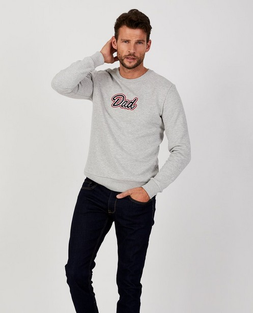 Sweaters - GSL - Lichtgrijze 'Dad' trui