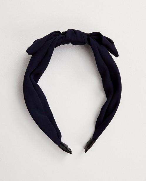 Bonneterie - Diadème bleu avec nœud