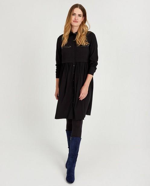 Zwarte jurk met pailletten Sora - van viscose - Sora