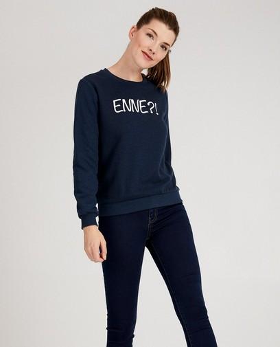 Blauwe 'Enne?!'-sweater