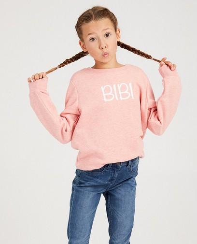 Roze 'bibi'-sweater