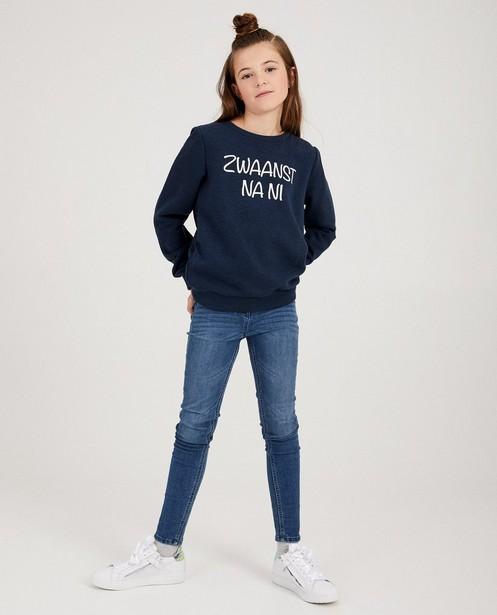 Blauwe unisex sweater, 7-14 jaar - familystoriesJBC - JBC