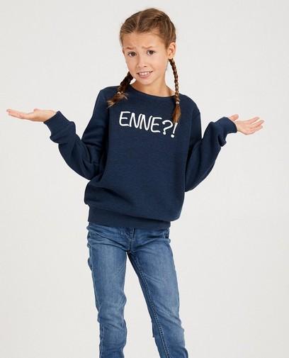 Blauwe unisex sweater, 7-14 jaar