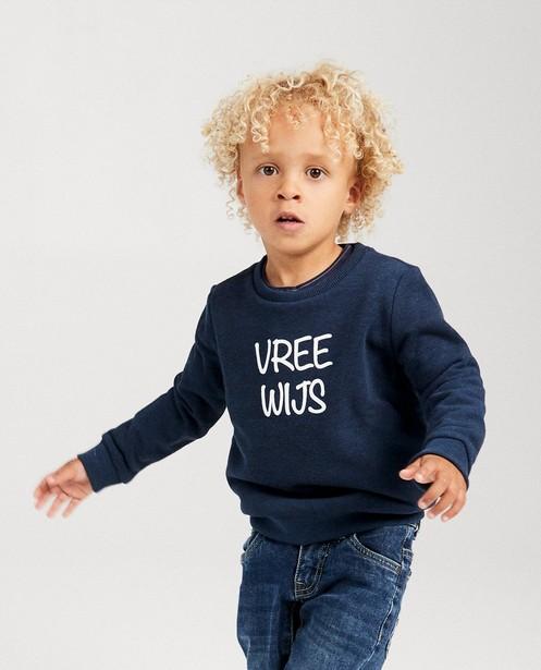 Blauwe unisex sweater, 2-7 jaar - familystoriesJBC - JBC