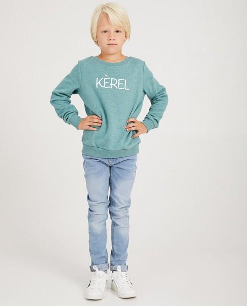 Groene 'kèrel'-sweater - familystoriesJBC - JBC