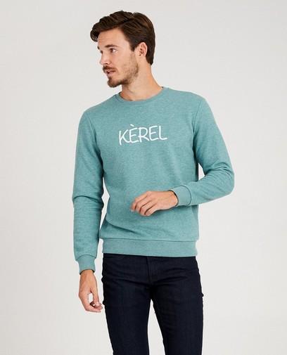 Groene 'kèrel'-sweater