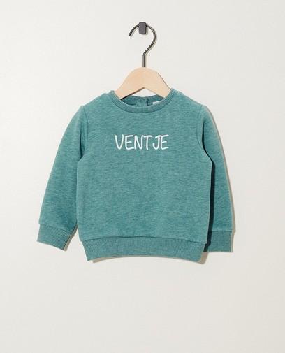 Groene 'ventje'-sweater