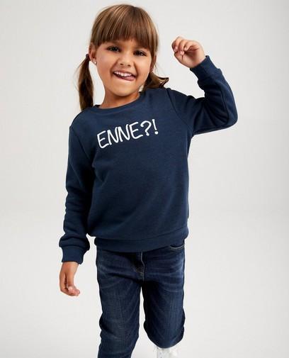 Blauwe unisex sweater, 2-7 jaar