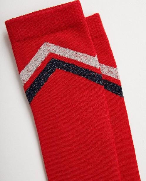 Chaussettes - Mi-bas rouges, rayures